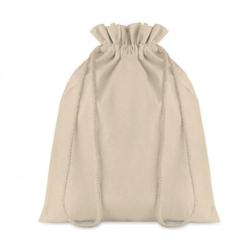 Średnia bawełniana torba beżowy