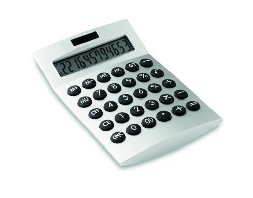 12-to cyfrowy kalkulator srebrny mat
