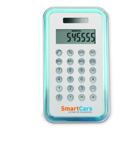 Kalkulator 8 pozycji przezroczysty niebieski