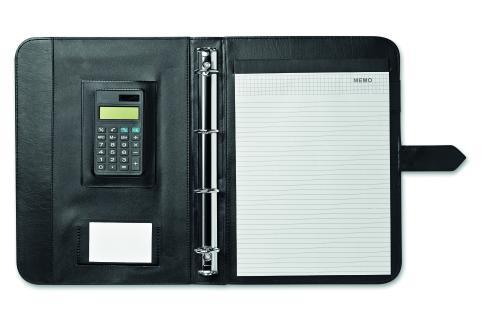 Teczka A-4 z kalkulatorem czarny