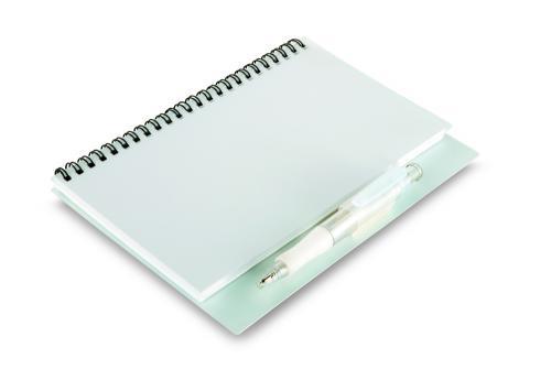 Notes z długopisem. 80 kartek przezroczysty