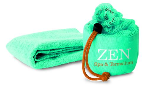 Ręcznik sportowy w pokrowcu granatowy