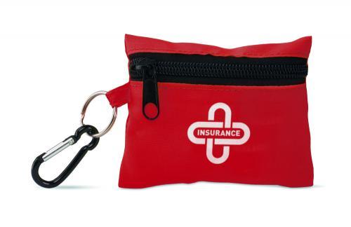 Zestaw pierwszej pomocy czerwony
