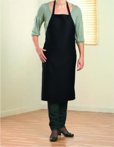 Bawełniany fartuch kuchenny czarny