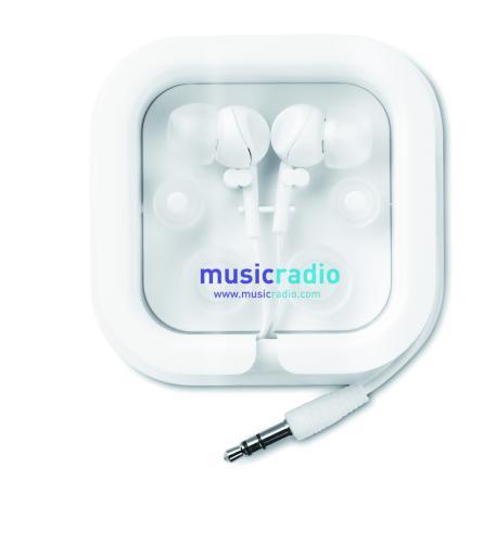 Słuchawki z silikonem biały