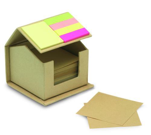 Karteczki z surowców wtórnych beżowy