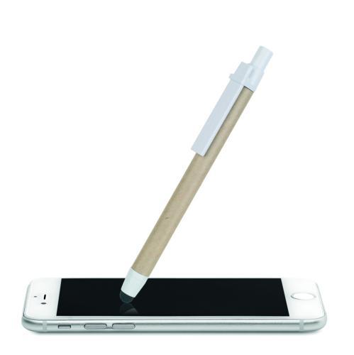 Dotykowy długopis z recyklingu biały