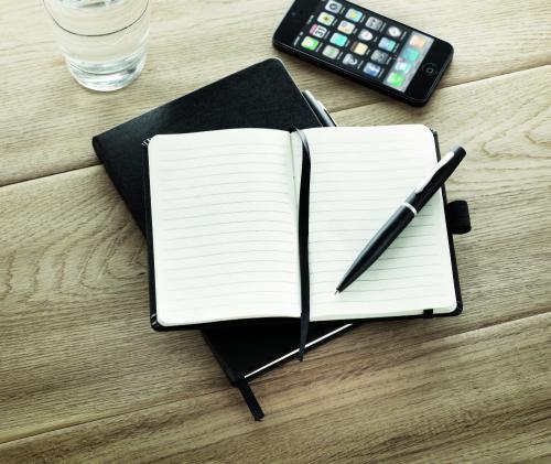 Notatnik formatu A6 z długopis czarny