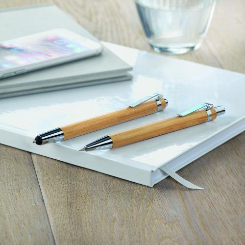 Bambusowy zestaw długopis  i o drewna