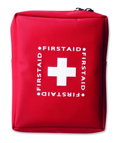 Zestaw pierwszej pomocy. czerwony