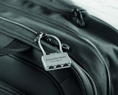 Kłódka do bagażu. srebrny mat