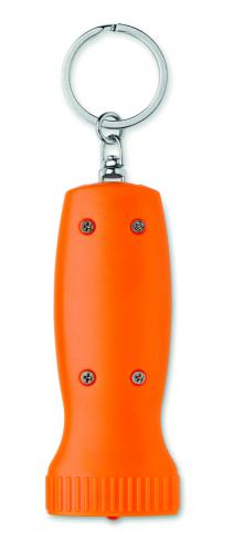 Brelok z latarką pomarańczowy