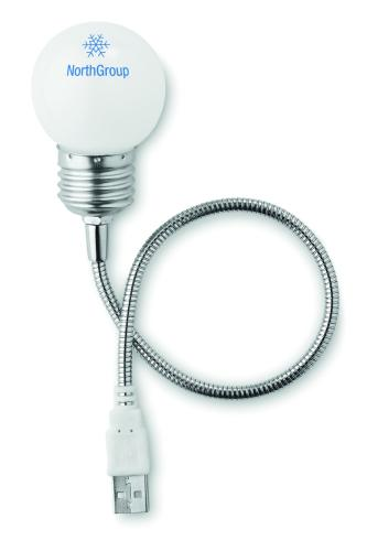 Lampka USB w kształcie żarówk biały