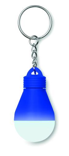 Świecący brelok - żarówka niebieski