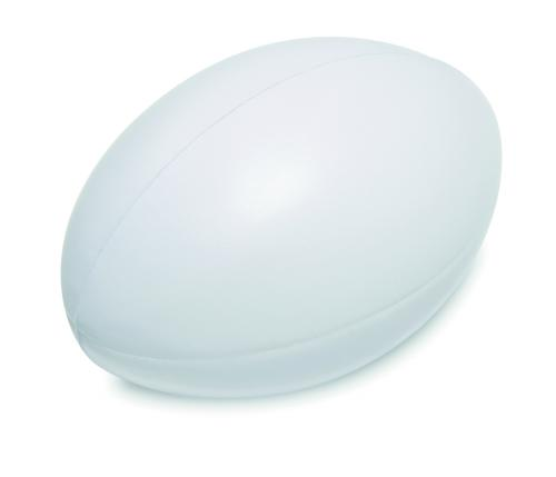 Antystres piłka do rugby biały