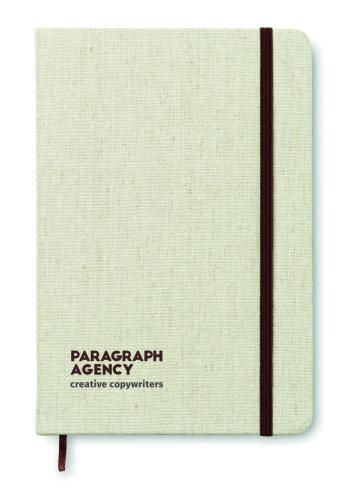Notatnik A5 z okładka płócienn beżowy