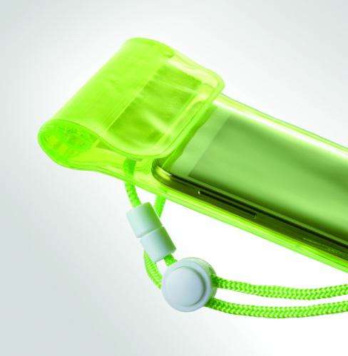 Wodoodporne etui na smartfon przezroczysty zielony