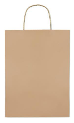 Paprierowa torebka ozdobna duż beżowy