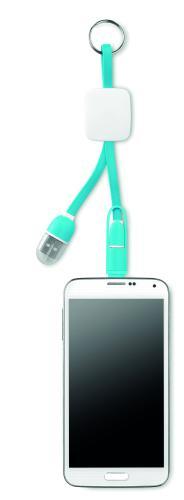 Brelok USB typ C turkusowy