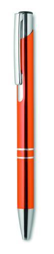 Przyciskany długopis pomarańczowy