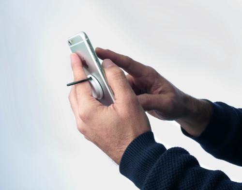 Uchwyt na smartfona biały