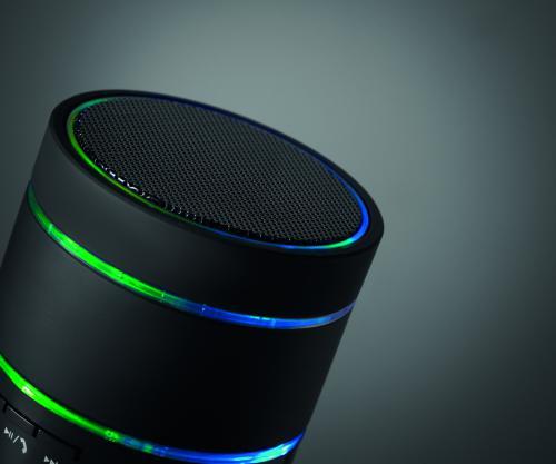 Podświetlany głośnik bluetooth czarny