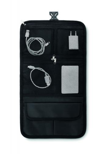 Podróżna torba na akcesoria czarny