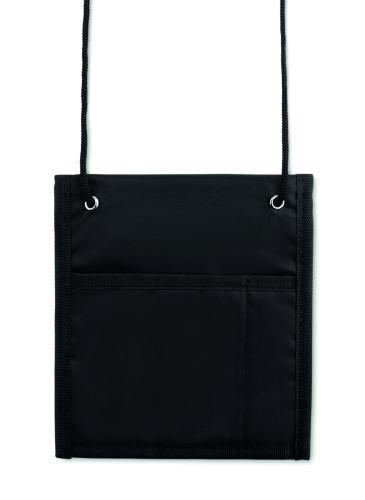 Nylonowy portfel 70D czarny