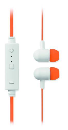 Słuchawki bluetooth pomarańczowy