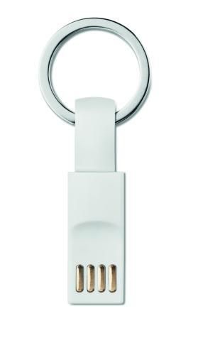 Brelok USB/USBtypC biały