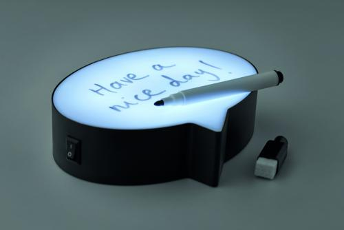 Lampka wiadomość czarny