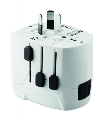 USB. 3-gniazda hub biały