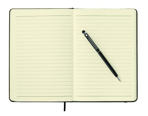 Zestaw notes z długopisem czarny