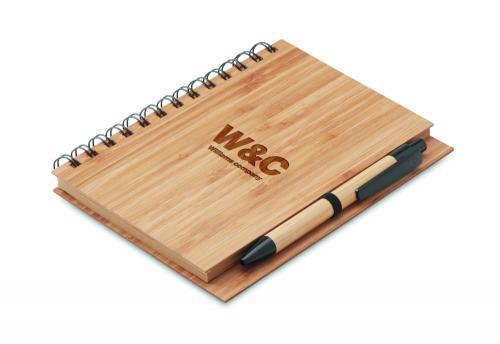 Notatnik bambusowy drewna