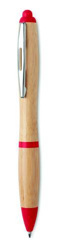 Długopis z bambusa czerwony