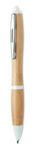 Długopis z bambusa biały