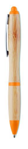 Długopis z bambusa pomarańczowy