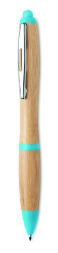 Długopis z bambusa turkusowy