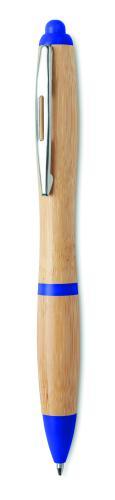 Długopis z bambusa niebieski