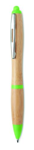 Długopis z bambusa limonka