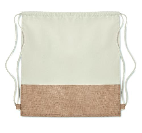 Plecak ze sznurkiem beżowy