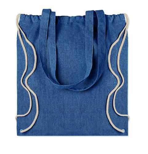 Torba na zakupy z recyklingu niebieski