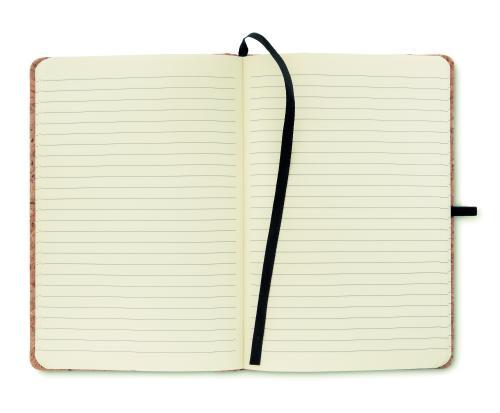 Notatnik A5 z  korkową okładką czarny