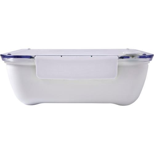 Pudełko śniadaniowe 920 ml, widelec biały