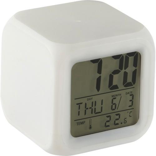 Zegar na biurko, budzik biały