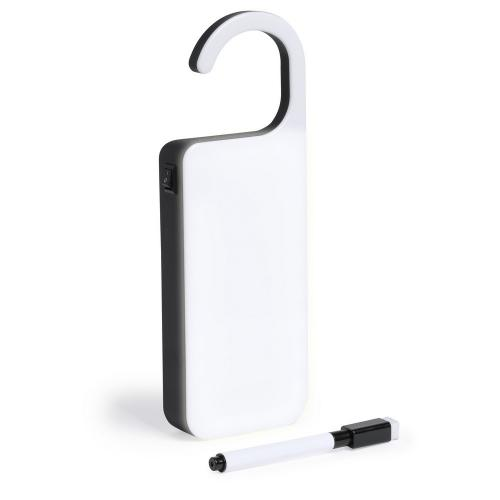 Podświetlana zawieszka na wiadomość, pisak, gumka biały