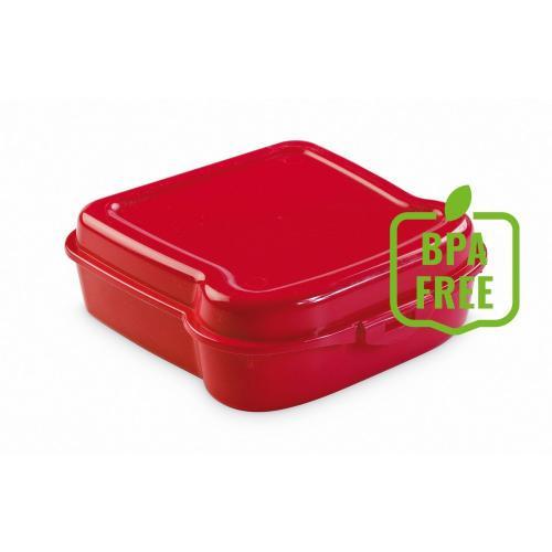 """Pudełko śniadaniowe """"kanapka"""" czerwony"""