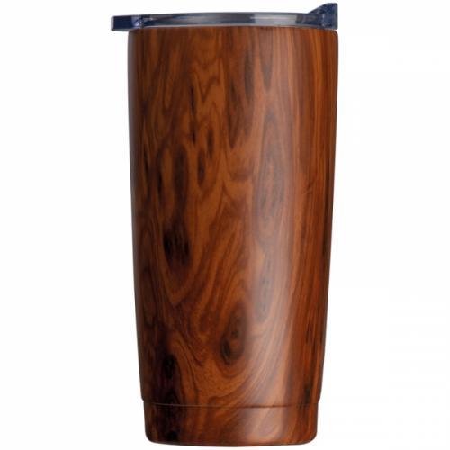 Kubek z motywem drewna COSTA RICA brązowy