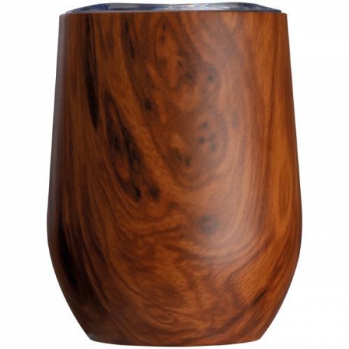 Kubek z motywem drewna BRIGHTON brązowy