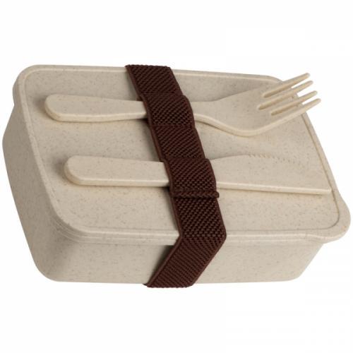 Pudełko na lunch LALIG brązowy